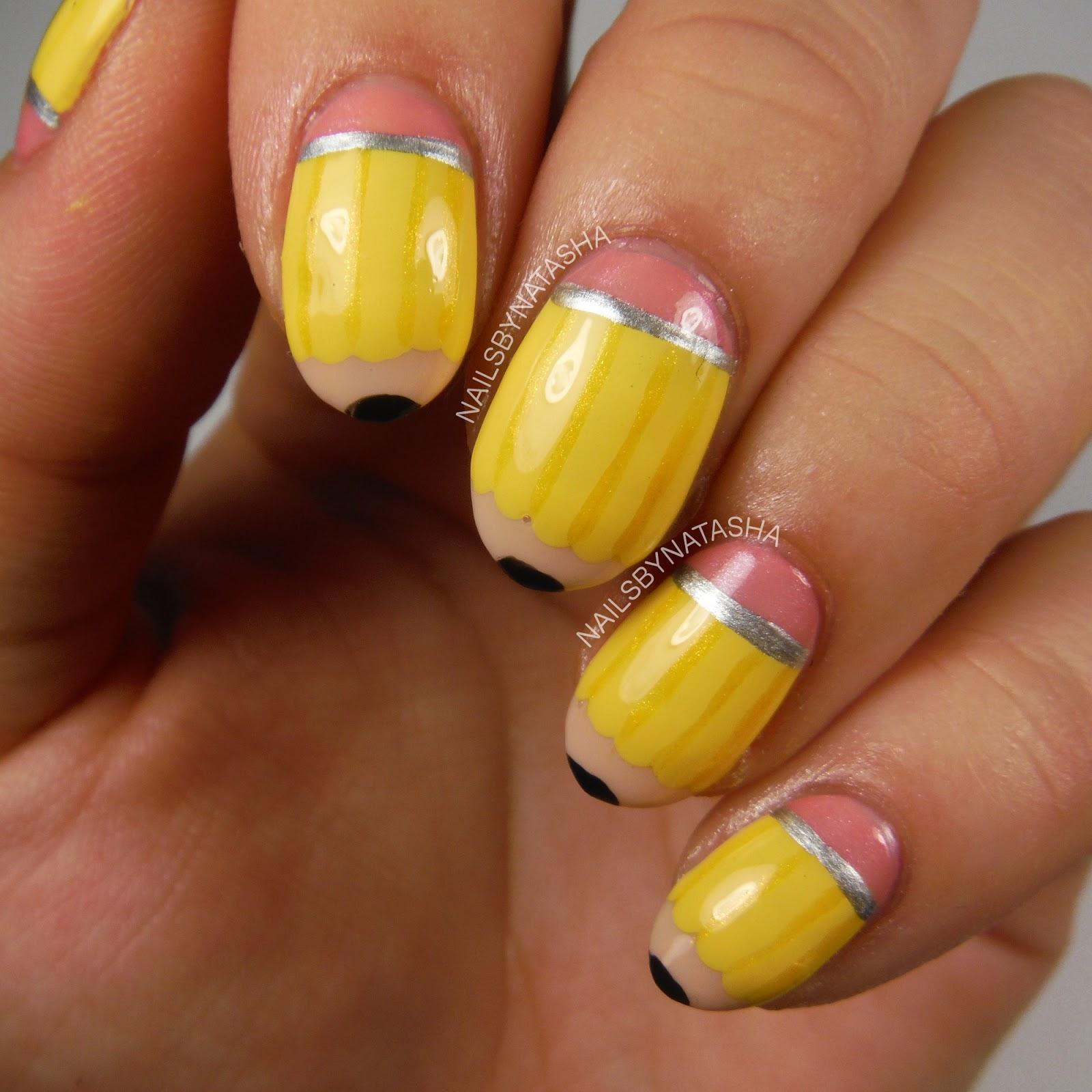Nails By Natasha: Nail Art August Day 11: School
