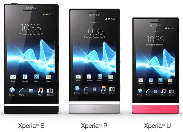 xperia S vs Xperia P vs Xperia U Sony