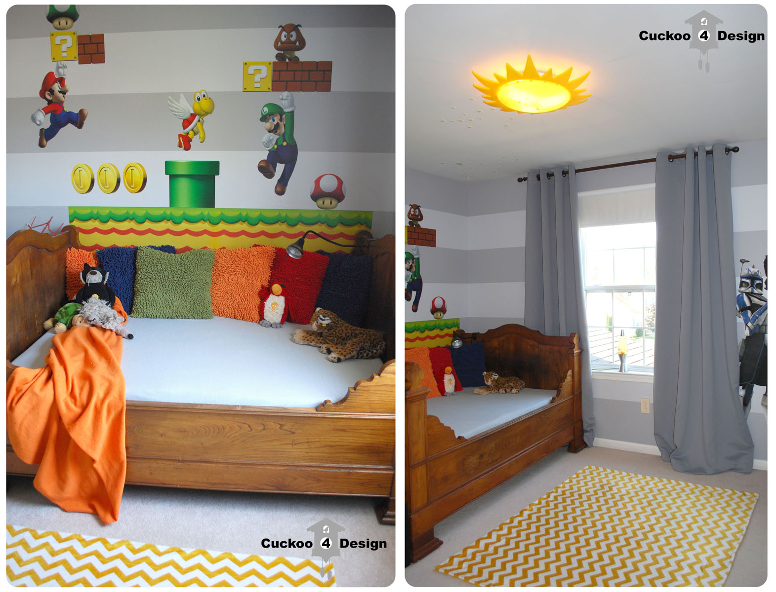 Mario brothers room idea cuckoo4design for 4 yr old bedroom ideas