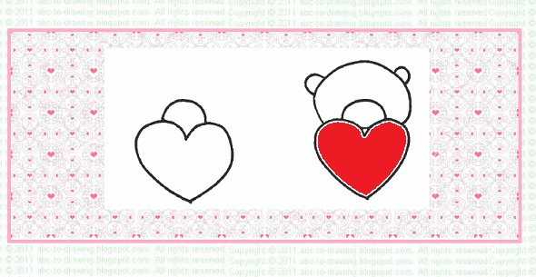 Abc To Drawing Valentine Ideas How To Draw Valentine Teddy Bear