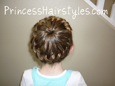 french braided crown