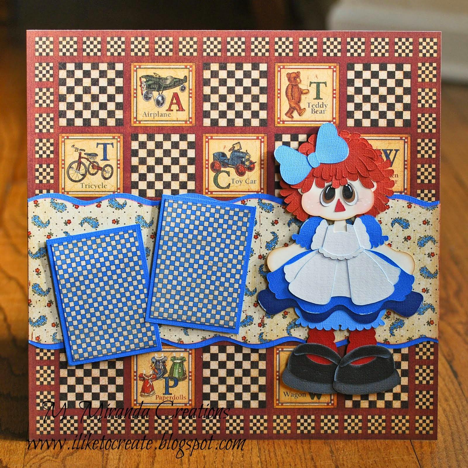 Rag Doll Scrapbook Page