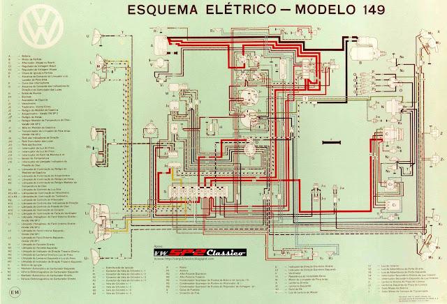 Esquema Elétrico do modelo 149 - Volkswagen SP2