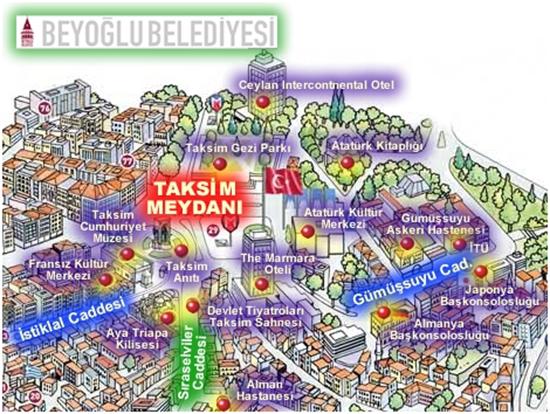 Taksim Beyoğlu Haritası