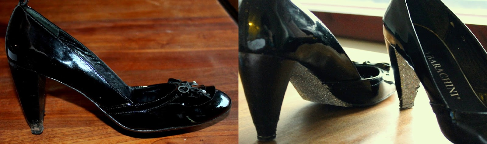 DIY idea sparkling heels