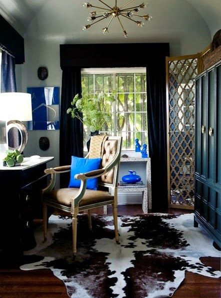transitional cowhide office