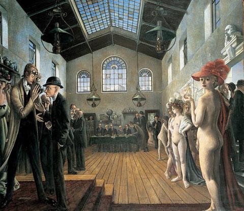El congreso (1944), obra del pintor belga Paul Delvaux