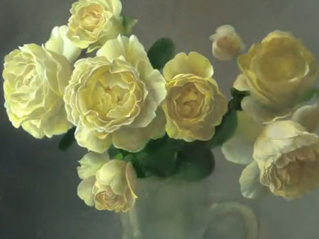 How to paint flowers oil painting rose video lessons for How to paint flowers with oil paint