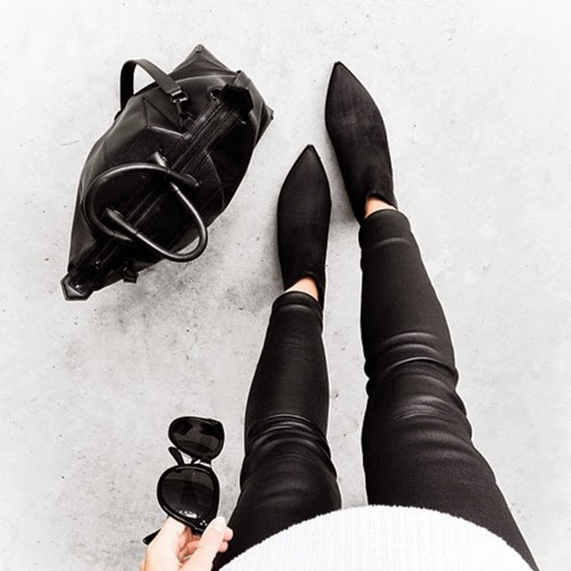 alexander wang bag - acne jensen boots - leather pants - modern lagacy