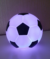 football light lit up purple