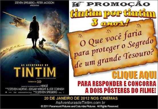 As Aventuras de Tintim - Página 4 Promo+Tintim+por+Tintim+Sony+Poster