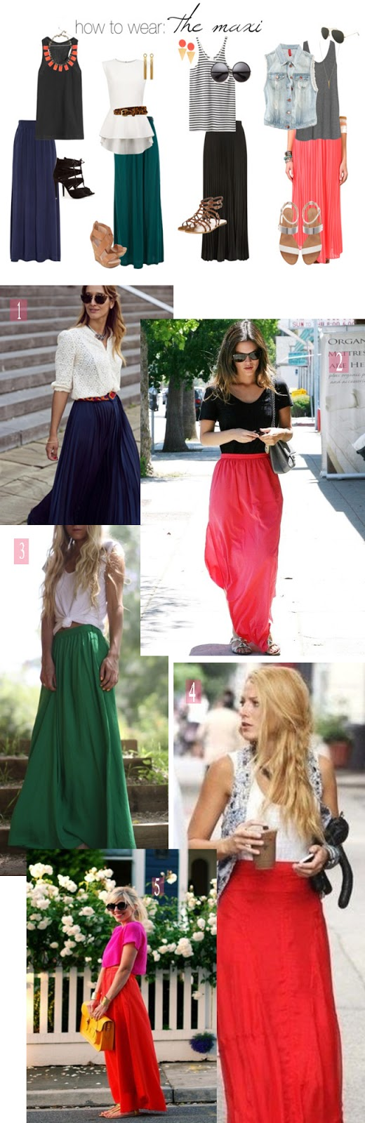 a creative day how to wear the maxi skirt for summer