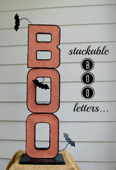 BOO Halloween Letters