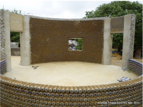 African architecture and design nigerian bottle house - Building a house with plastic bottles ...