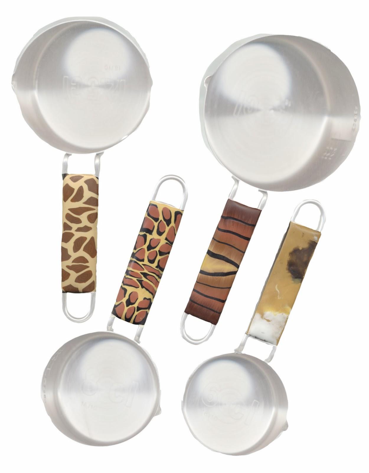 Animal Skin Measuring Cups