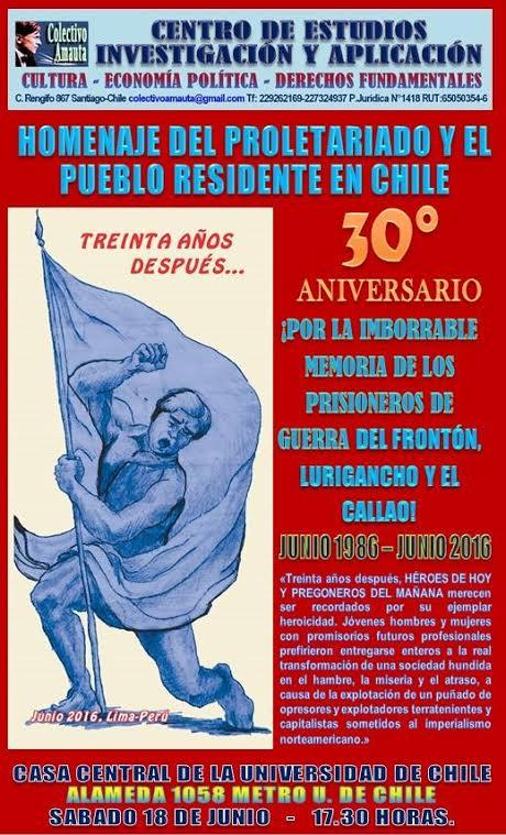 SANTIAGO CENTRO: HOMENAJE DEL PROLETARIADO Y EL PUEBLO RESIDENTE EN CHILE