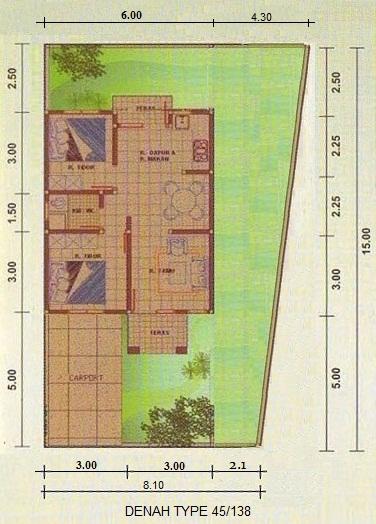 Rumah Minimalis Type 45/138