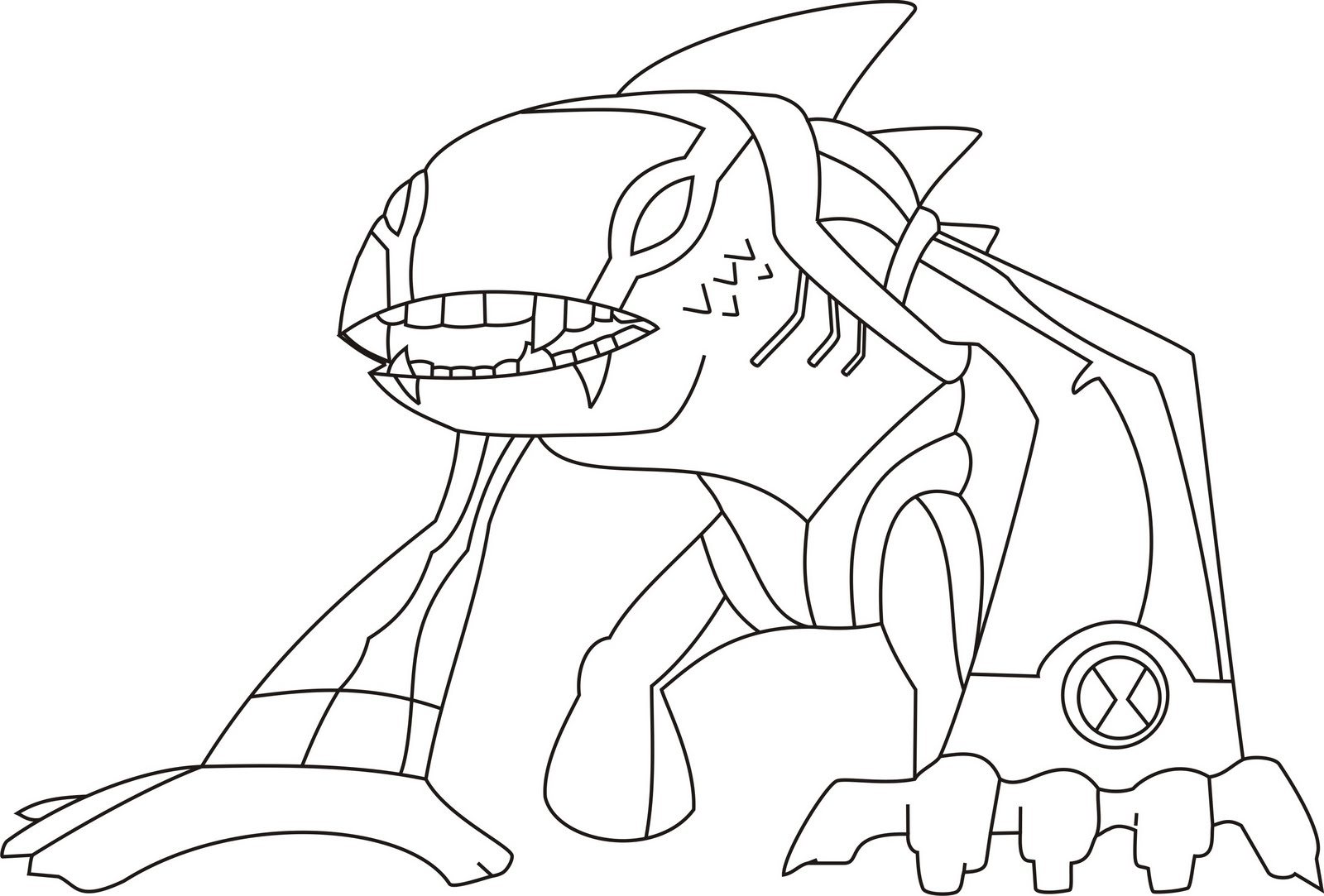 Download Ben 10 Coloring Pages