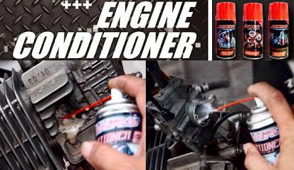 Membersihkan Silinder Head Motor Menggunakan Engine Conditioner