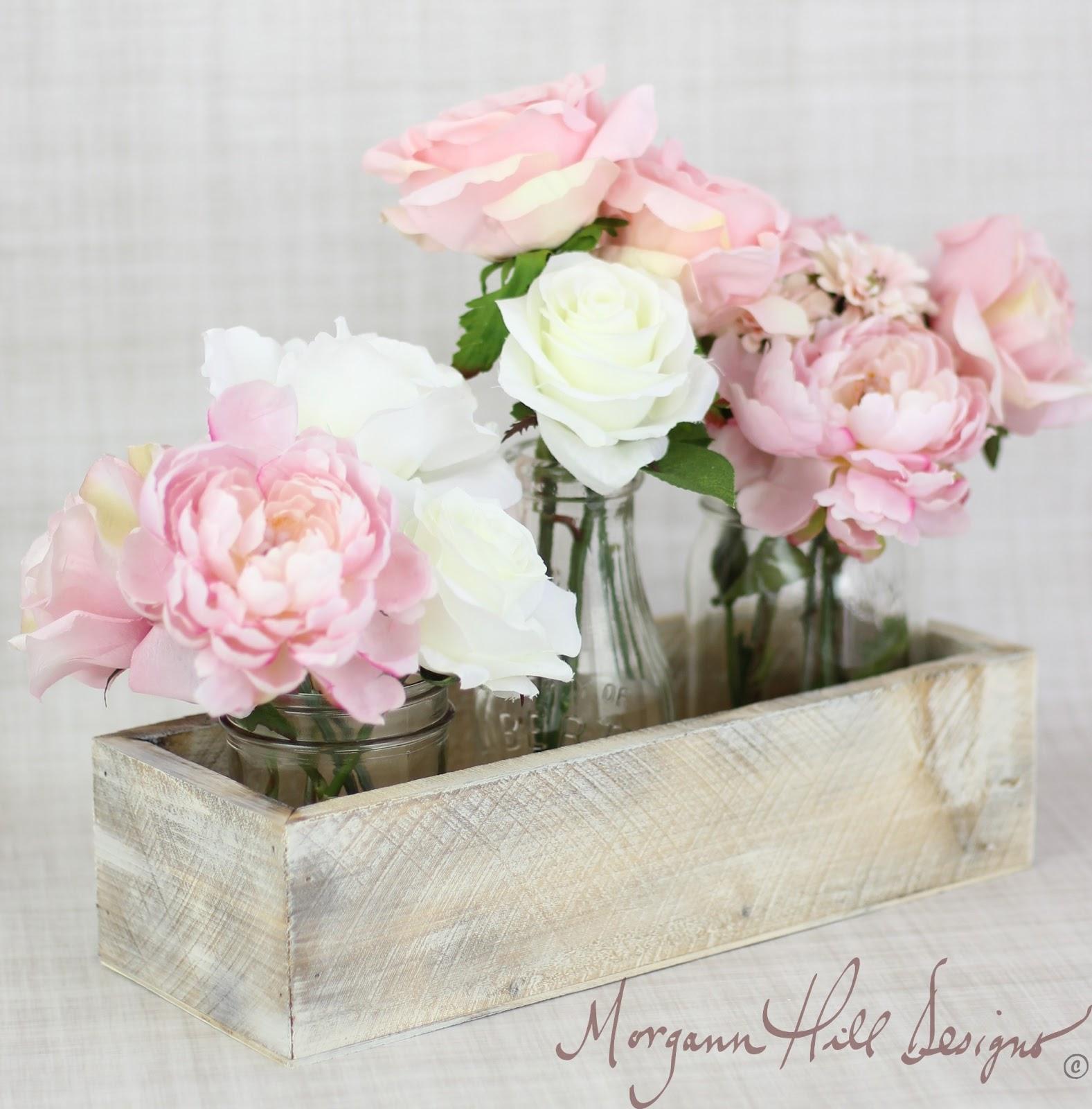 Morgann Hill Designs: Rustic Chic Planter Box Wedding Centerpiece ...