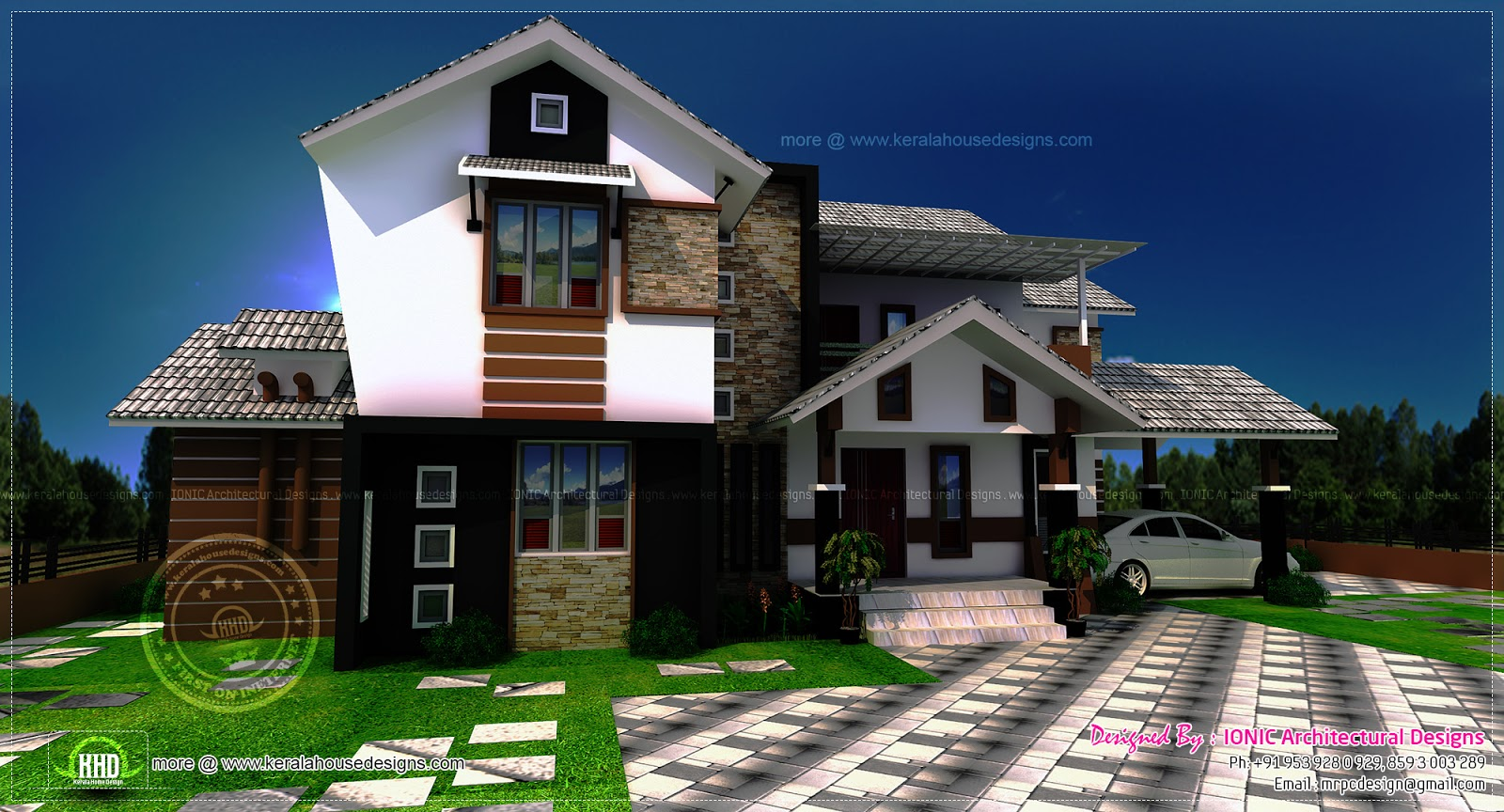 3 bedroom house exterior design in 200 square yards