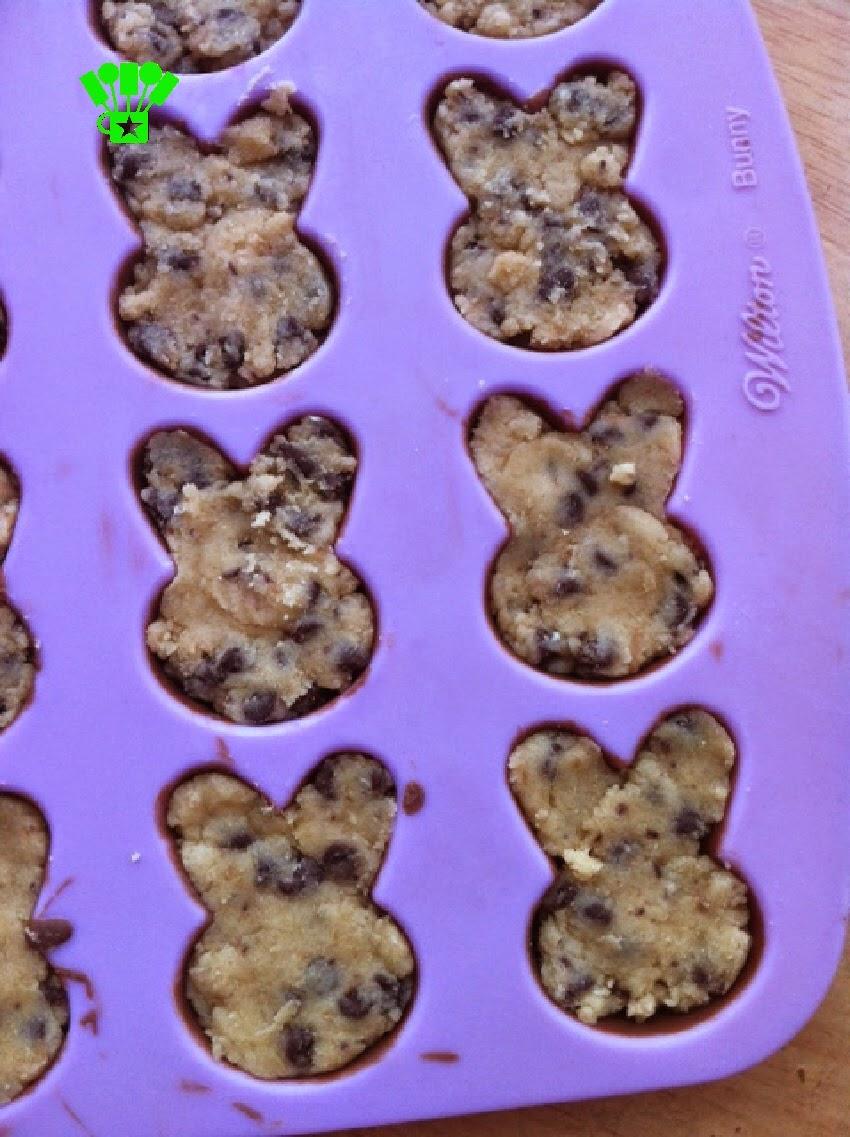 Make Cookie Dough Truffle Easter Bunnies