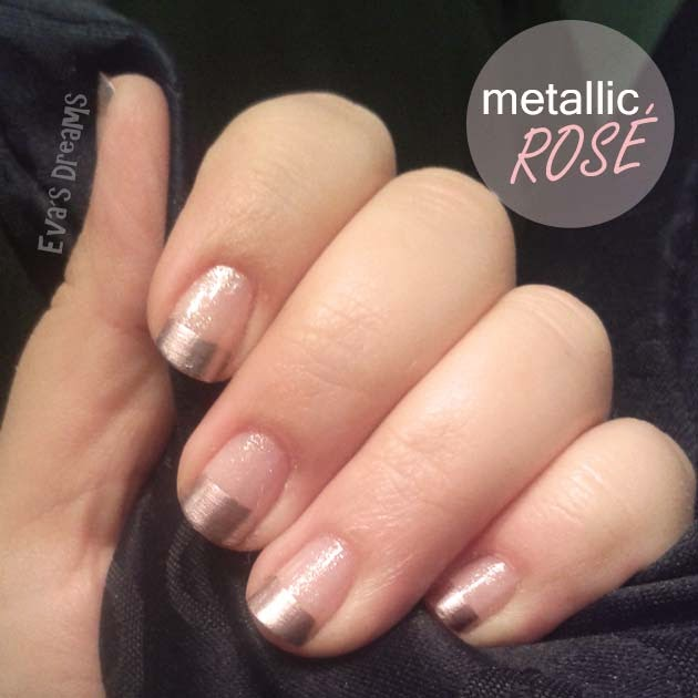 Nails of the week: Nail art design - metallic rosé