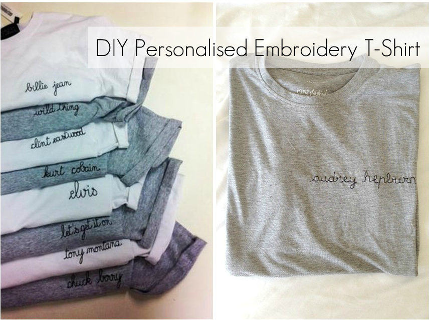 The science of happy diy personalised embroidery t shirt