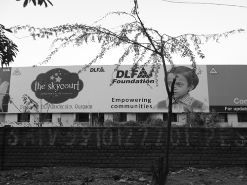 Developer's advt. luring a city to be born and nurtured