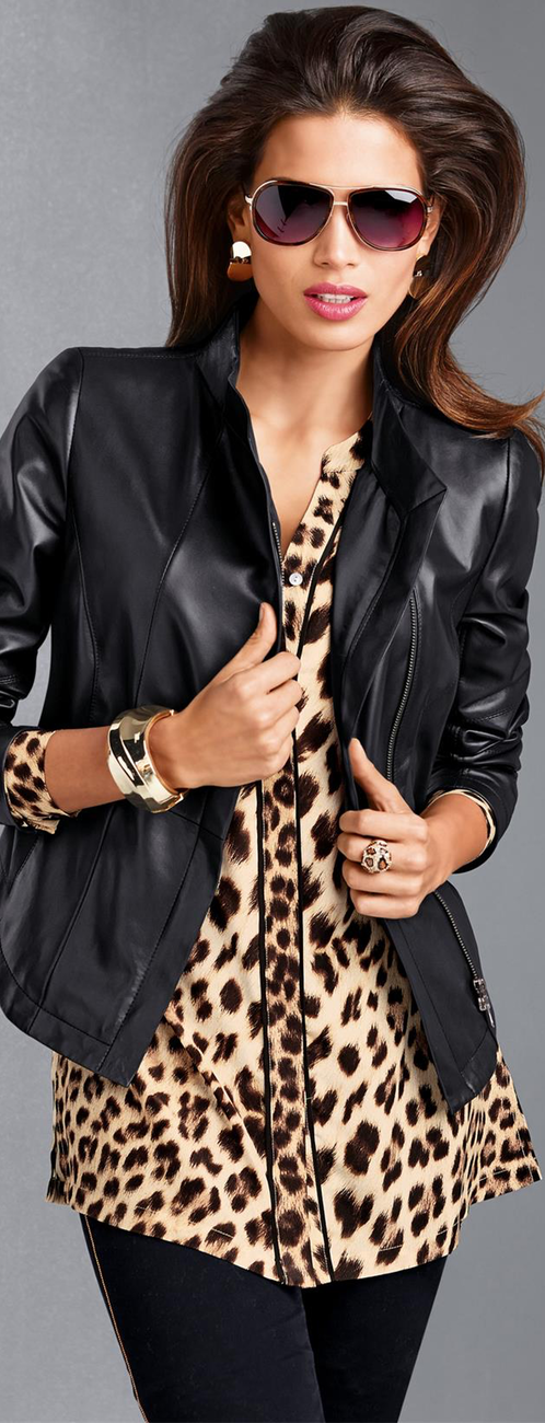 MADELEINE Animal Print Blouse
