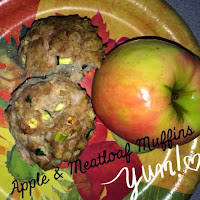 Clean Eating Stripped snack, meatloaf muffins and apple