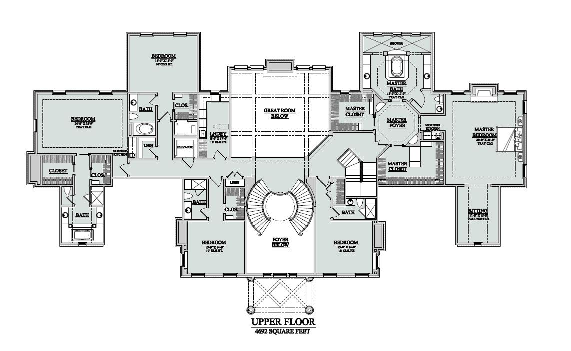 Plantation floor plans Old plantation house plans
