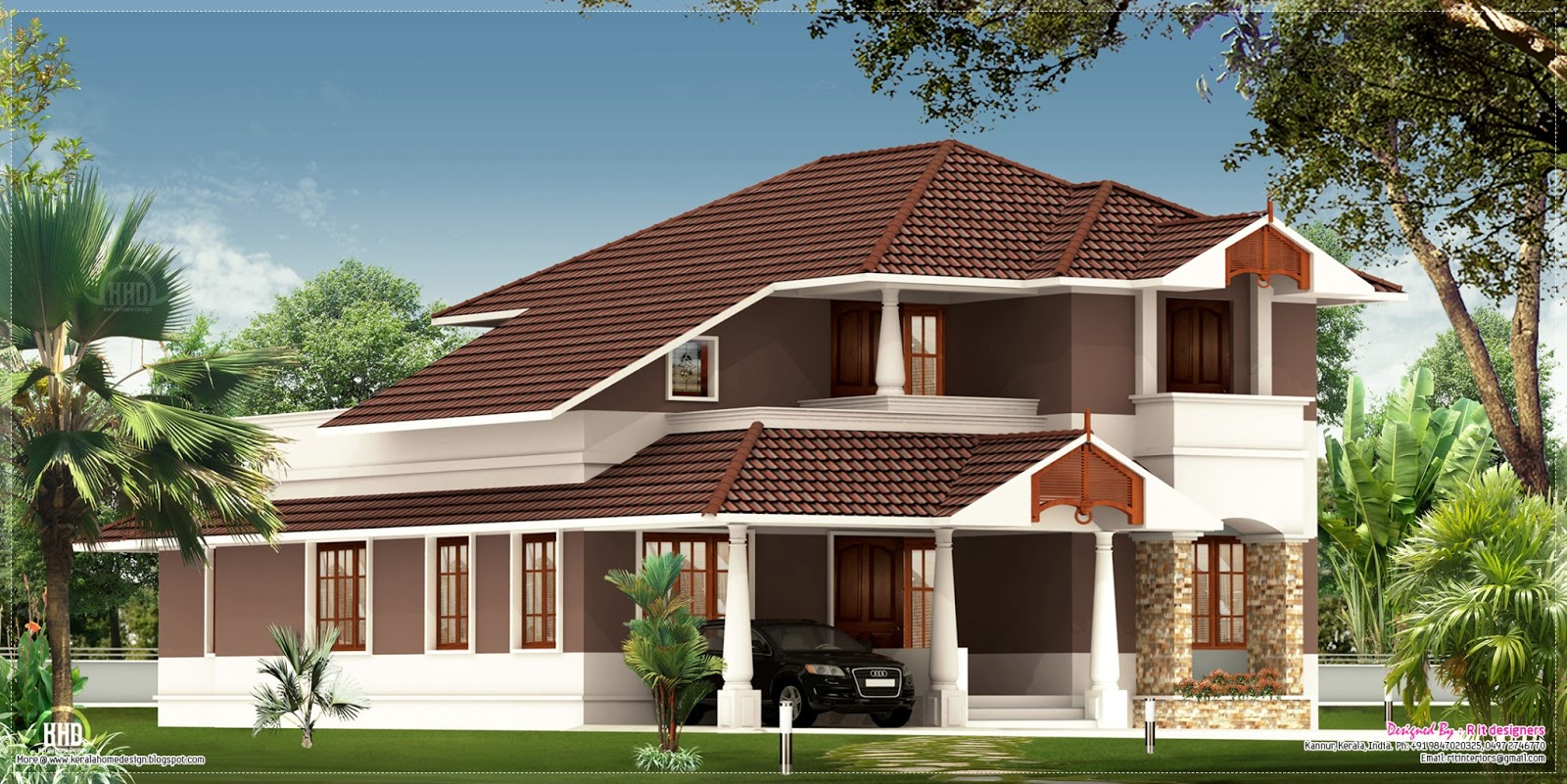 2100 house exterior design home kerala plans Kerala style house exterior designs