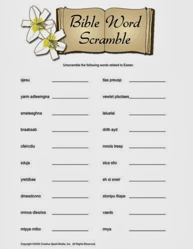 5 Easy Easter Word Scramble Printable and Free