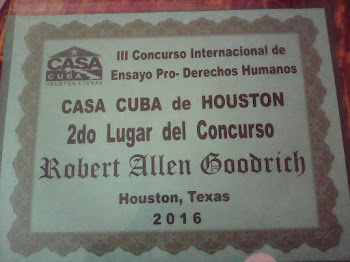 2 Lugar Concurso Ensayo Casa Cuba Houston