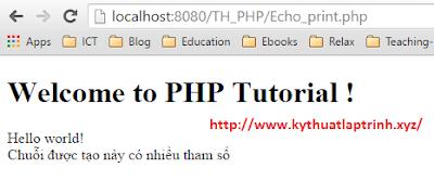 Cách sử dụng lệnh echo trong PHP