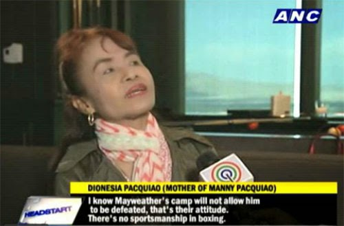 Mommy Dionisia Pacquiao message to Floyd Mayweather