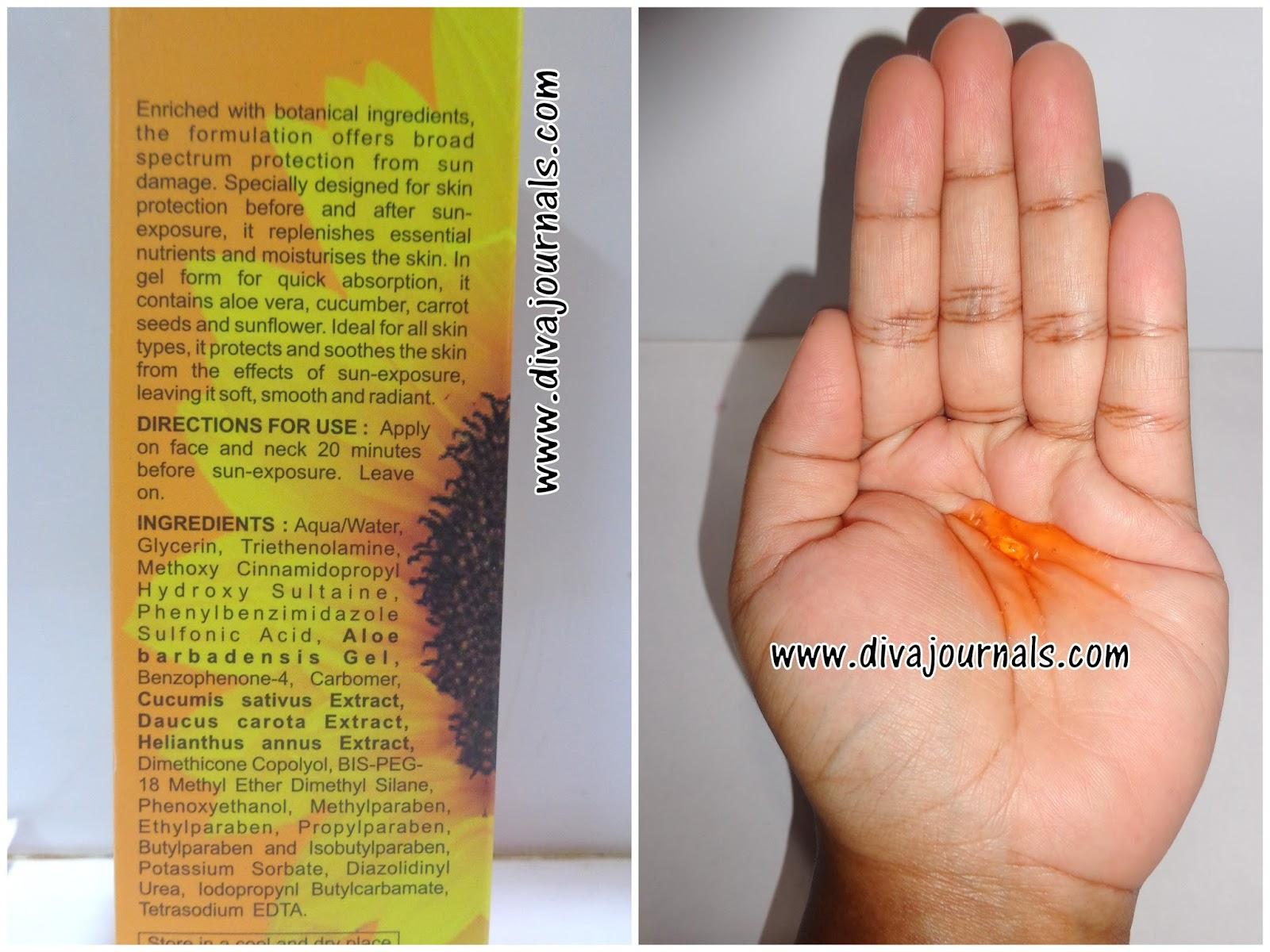 Shahnaz Husain Nano Sunscreen Gel SPF 20 Review