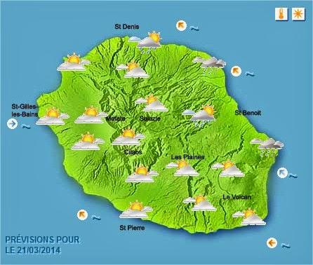 prévision météo réunion
