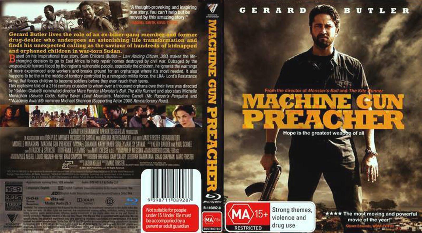 Machine Gun Preacher DVD Front Cover