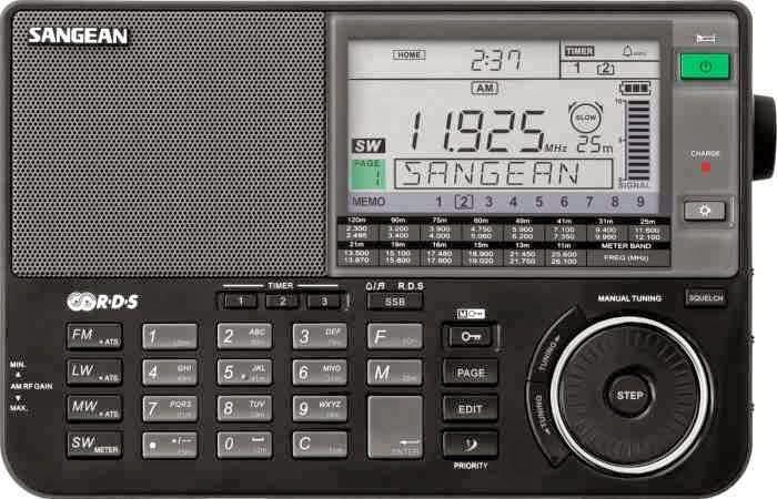 Радиоприемник Sangean ATS-909X (черный) с большим ЖК-дисплеем и новым валкодером и функцией шумоподавления