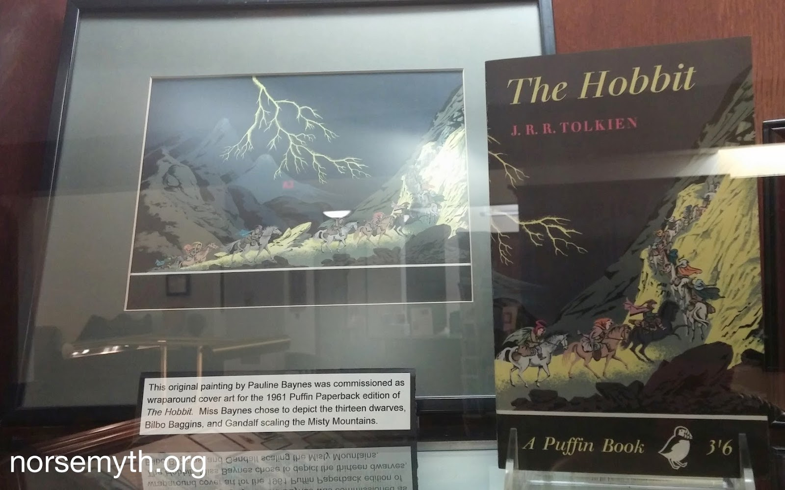 the norse mythology blog org tolkien archives at  original cover art by pauline baynes for the hobbit