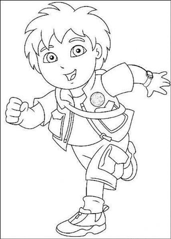 Go Diego Go Coloring Pages | Team colors