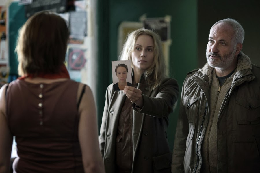 Saga Norén (SOFIA HELIN), Martin Rohde (KIM BODNIA) in The Bridge 2