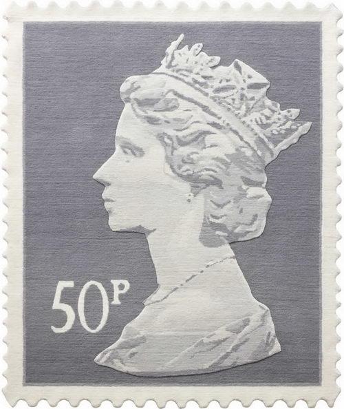 Stamp Rug Design 50p