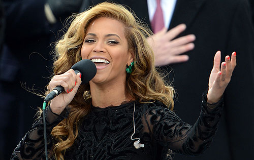 beyonce lip sync inauguration national anthem Star-Spangled Banner