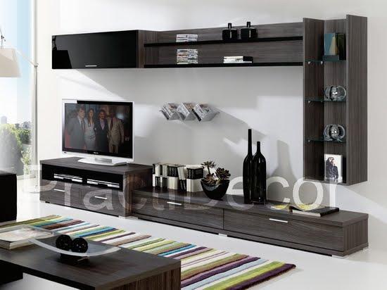 Ideas de modelos de amoblamientos modulares para sala tv audio for Modelos de muebles para sala