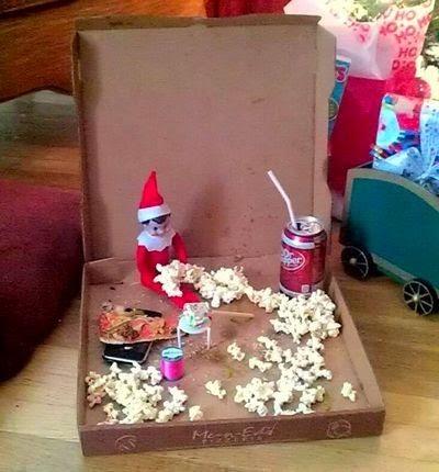 Elf on the Shelf Gets Into Mischief Around the House