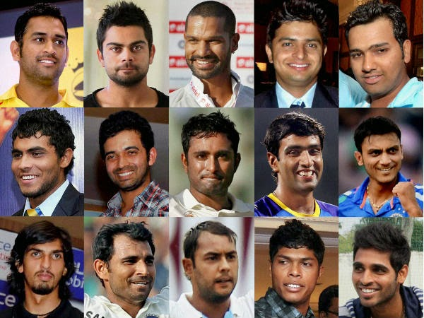 Team India Final 15 for World Cup