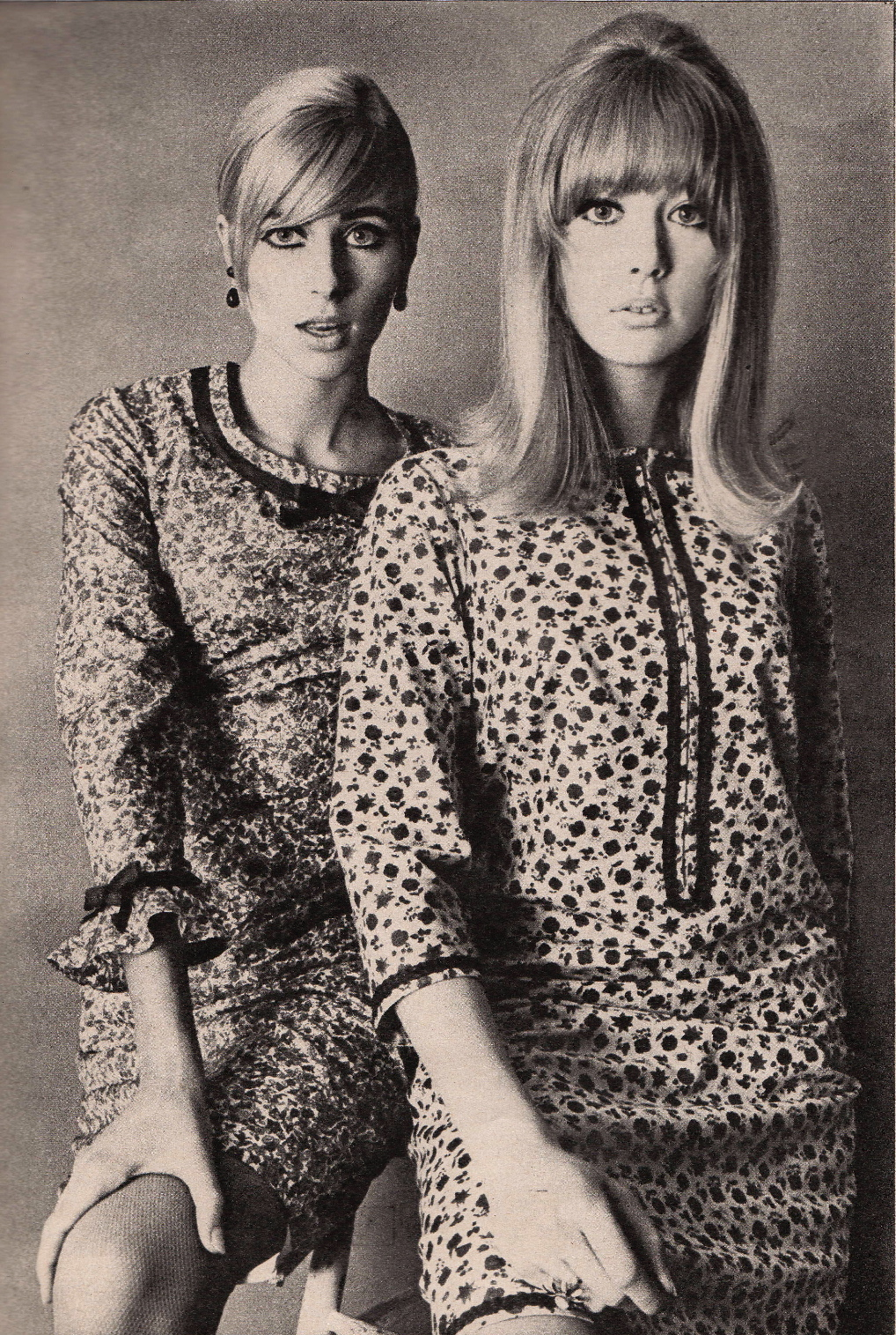 SWEET JANE: Vanity Fair 1965..Pattie Boyd and Jill Kennington